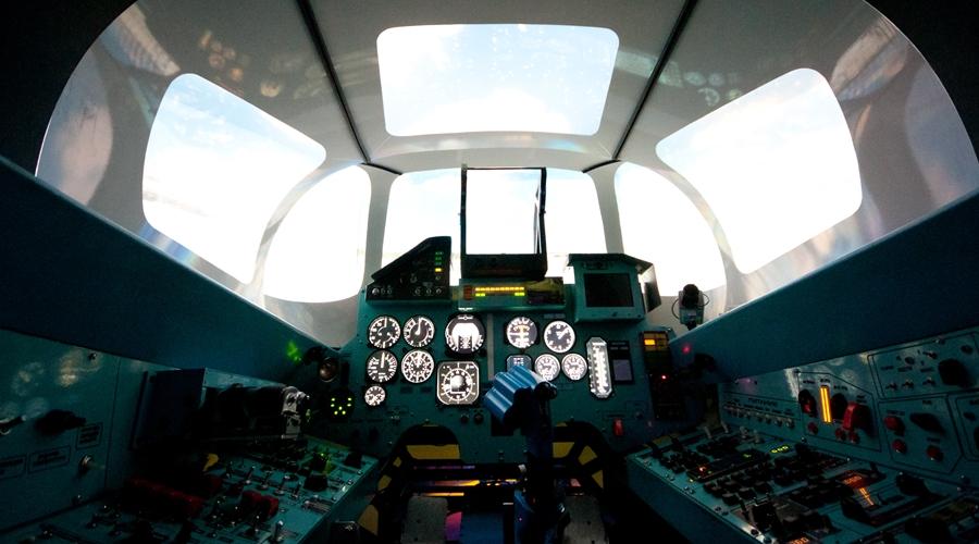 Посмотреть 3D-панораму кабины Авиатренажера Су-27